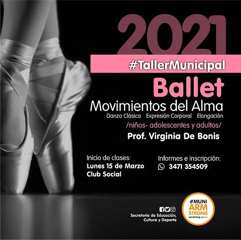 Armstrong. Inicia el taller municipal de danzas clásicas.