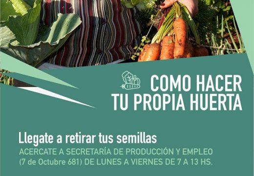 Cañada de Gómez. Municipio entrega semillas del programa Prohuerta.