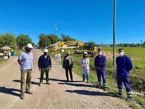 Se inició obra de colector principal para ampliar red de cloacas que beneficiará a 3 mil vecinos de zona norte.