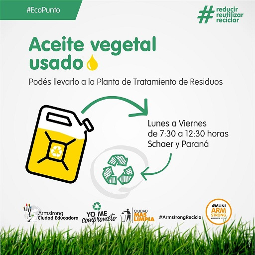 Armstrong. Reciclado de aceite vegetal usado.