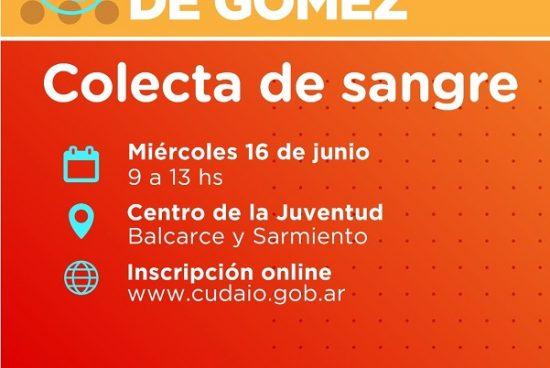 Cañada de Gómez. Municipio y Cudaio realizan jornada de colecta de sangre.