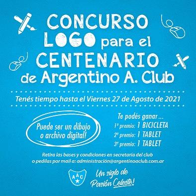Las Parejas. Argentino lanzó el concurso para el diseño del logo del Centenario.