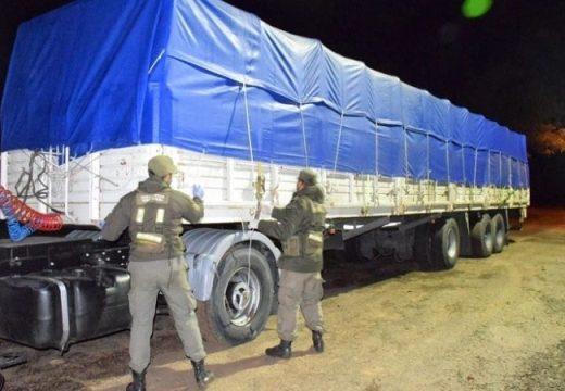 Contrabando de soja: Gendarmería secuestró 210 toneladas que eran trasladadas desde Cañada de Gómez.