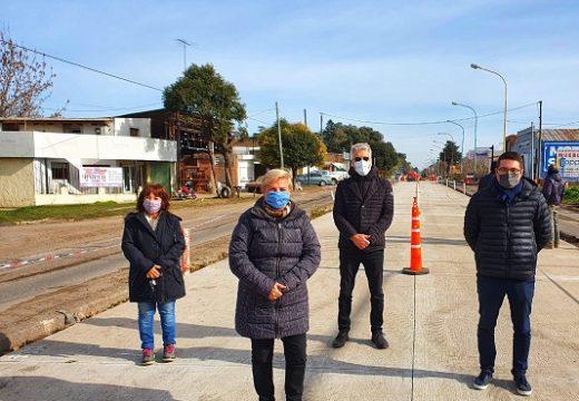Avanza la reconstrucción de la calzada en las zonas semaforizadas de la Ruta 9.