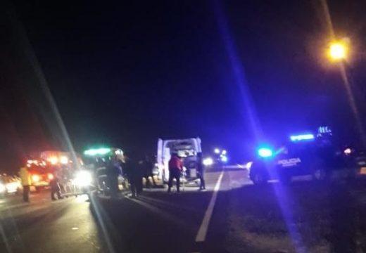 Accidente fatal en el cruce a Montes de Oca.