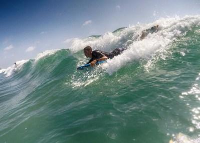 Body Boarding at Carlsbad Beach