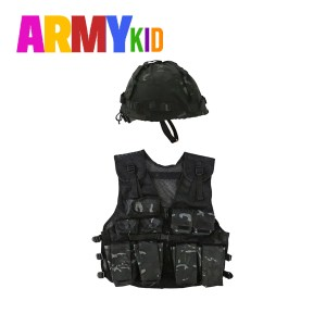 Kids Assault Vest & Helmet Set – BTP Black Camo
