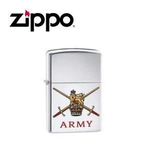 Zippo British Army Lighter – High Polish Chrome