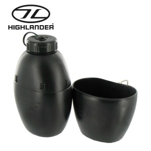Highlander 58 Pattern Water Bottle – Black