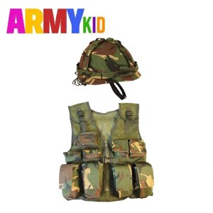 Kids Assault Vest & Helmet Set – DPM Woodland Camo