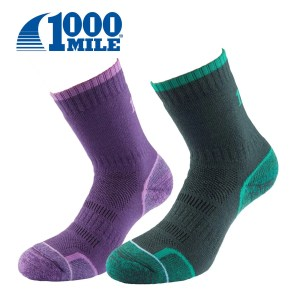 1000 Mile Ladies WALKING SOCK Twin Pack