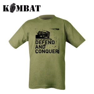 Defend and Conquer T-shirt – Olive Green