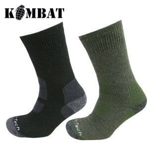 Odin Cold Weather Walking Hiking Socks – Olive Green | Black.