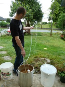 Using the copper wort chiller to crash to pitching temperature