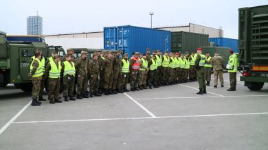 1st #NATO forces and equipment for #SteadfastCobalt2017 arrive at Lithuania to test the interoperability of deployable C4ISR in #Kaunas.