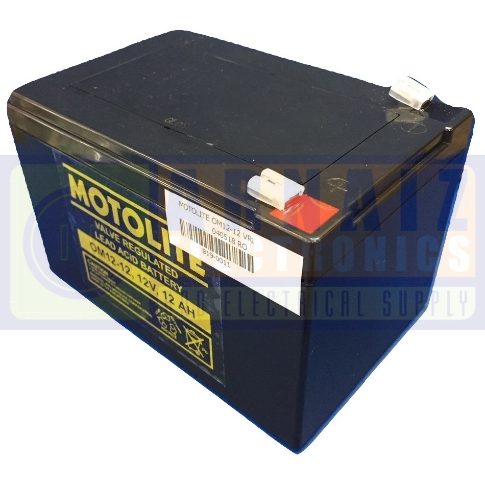 Motolite 12v 12ah Sla Battery Om12 12 Arnaiz Electronics And