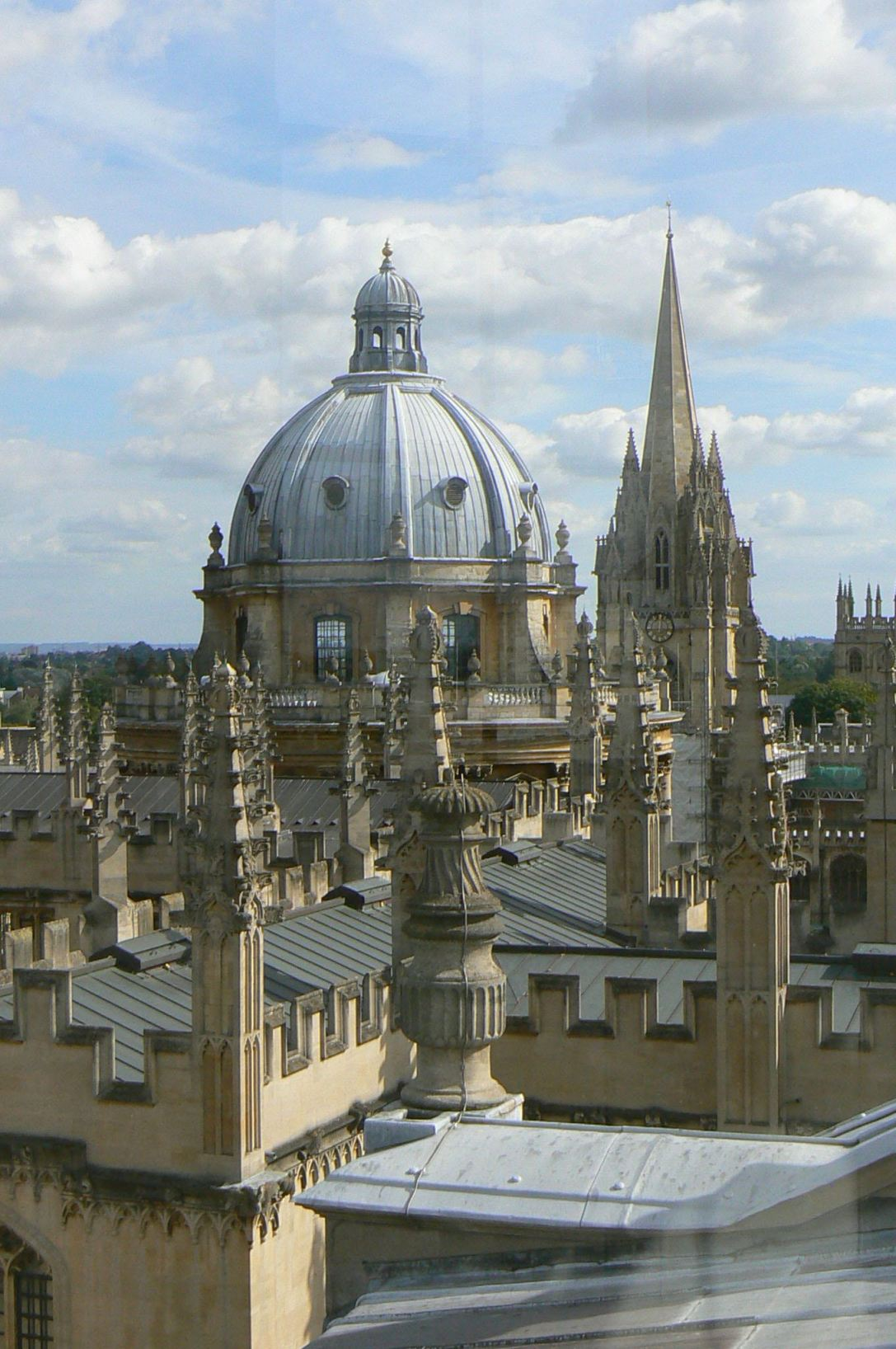 Oxford Spires: The Radcliffe and University Church of St Mary's , Oxford, UK