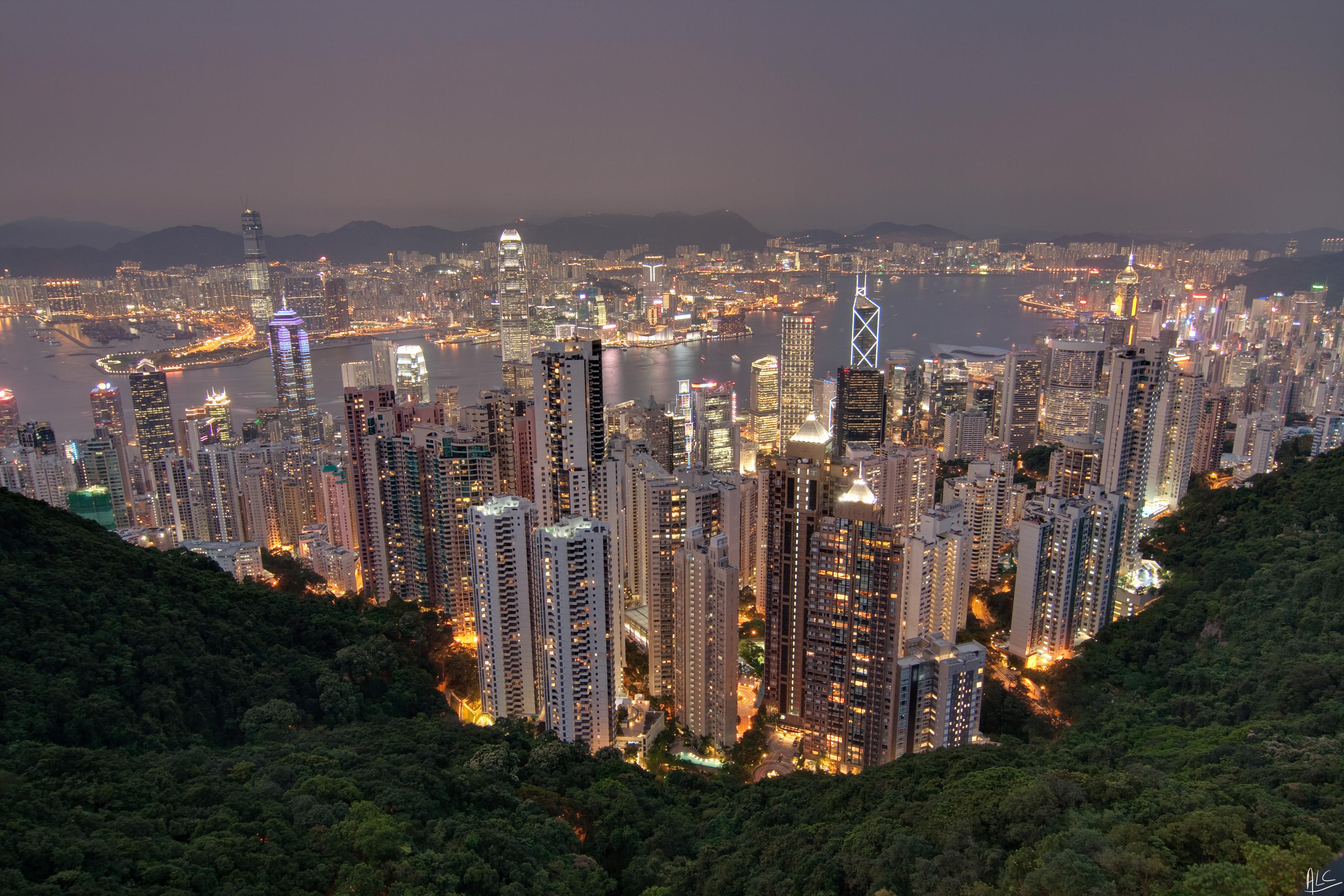 "Hong Kong ""The Peak"" view"
