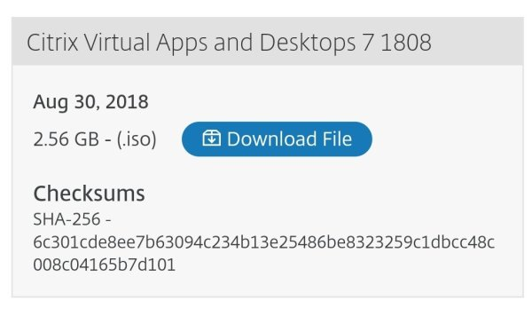 Citrix Virtual Apps and Desktop 7 1808: Interactive Sessions