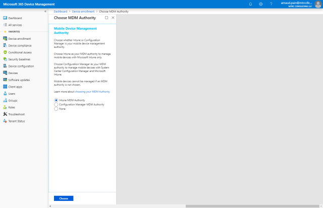 First steps with Microsoft Intune -