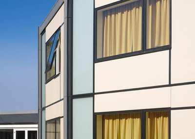 Ny facadebeklædning, Brande Højskole