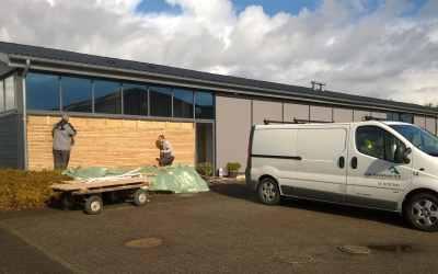 Ny facade med superwood og egelister