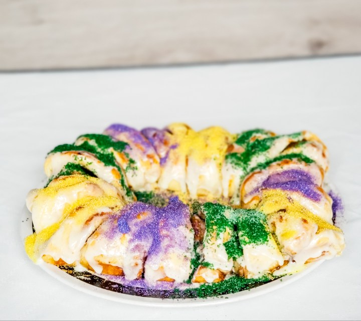 Easy Peasy Mardi Gras King Cake (and a little bit of history)