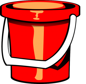 Metaphorically similar to this kind of bucket.