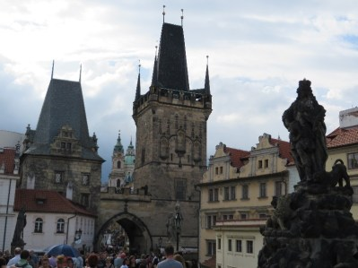 Towers at the west end of the Charles Bridge