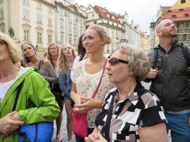 We joined Julia and the rest of the tour group in the Old Town Sqauare
