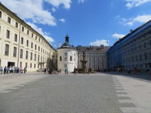 Entrance courtyard to the Prague Castle