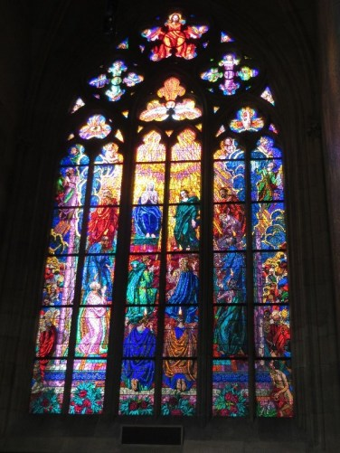 St. Vitus Cathedral stained glass window