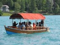 Tourists on a Plenta cruise, oar-driven
