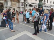 We met in Piazza San Marco to go to supper nearby