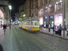 Our downtown tram stop