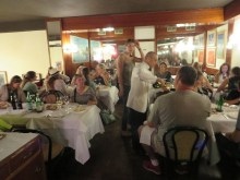 Our farewell supper in downtown Milan