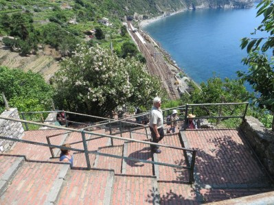 View down on the 365 steps to Corgnilia