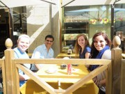 We were lucky to find three OU students and a teacher at a cafe near the school