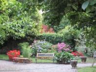 A private garden near the lake shore