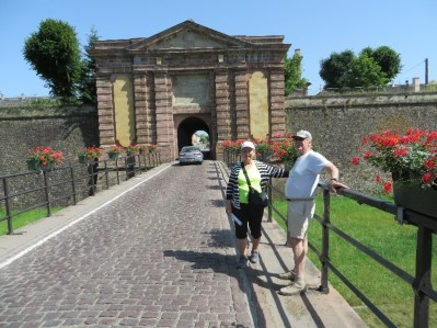 Kathy and Peter at one of the fortress gates