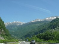 Driving south from Vaduz
