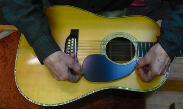 pick guard replacement on 12 string martin guitar