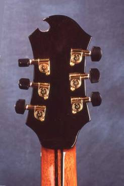 Arnie Gamble string steel cutaway guitars.