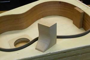 Arnie Gamble building a classical guitar.