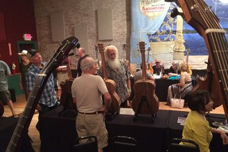 At the Winters GuitarFest with Chuck Erikson Arnie Gamble.