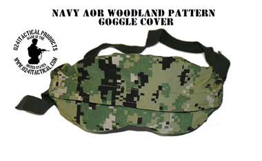 NAVY AOR WOODLAND GOGGLE COVER