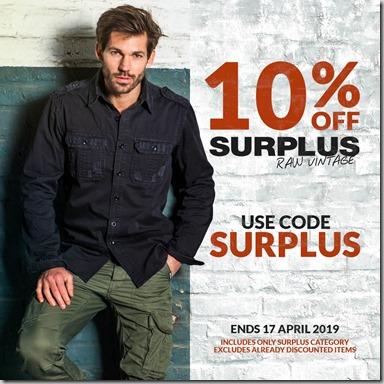 Surplus Sale 2019 Instagram