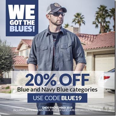 Blue Sale 2019 Instagram