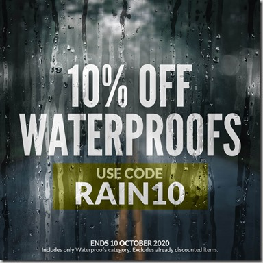 Waterproofs Sale 2020 Instagram