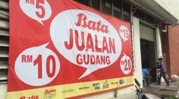 Jualan Gudang Kasut Bata Warehouse Sale Serendah RM5